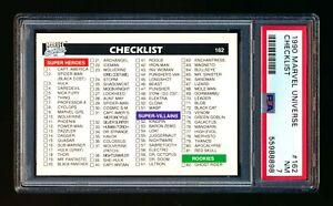 1990 MARVEL UNIVERSE #162 SET CHECKLIST PSA 10 GEM MINT! POP 15!