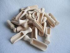 """25 x Small Mini Wooden Scoop Sugar, Salt, Herbs 7 cm (3"""")"""