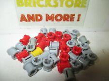 Lego 8 connectors old set 800 802 803//8 old red bush