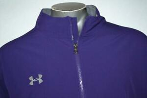 21330-a Mens Under Armour Athletic Jacket Shirt Size 4XL Purple Polyester