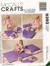 "McCall's Accessories For Child and 18"" Doll For Slumber Party Pattern 9392 UNCUT"