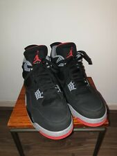 Air Jordan 4 Retro OG Bred 2019 308497-060 Black Red Grey Mens Basketball Shoes