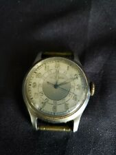 Jaeger LeCoultre WWII Military Stainless Steel Mens Wrist Watch w/ 24 Hour Dial