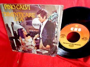 PINO CALVI Dimenticare Lisa 45rpm 7' + PS TV OST 1978 ITALY MINT-