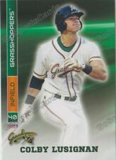 2017 Greensboro Grasshoppers Colby Lusignan RC Rookie Miami Marlins