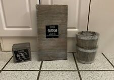 17  DIY Table Setting Decor ARTMINDS Coasters Signs Containers Gray Wash NEW