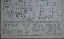 LOEWE OPTA Typ 555 W Bella Schaltplan Ausgabe 1, Stand 05/54
