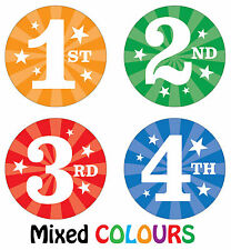 144 x Sports Day Reward Stickers - 1st, 2nd, 3rd 4th Place - School Teachers