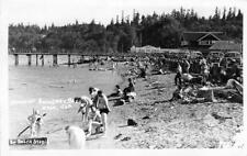 "RPPC Beach At Boundary Bay, WA ""Whalen's Skating Rink"" 1948 Vintage Postcard"