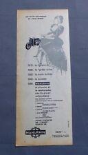 PUBLICITE ANCIENNE ADVERT CLIPPING 311017 / SCOOTER MANURHIN AUTOMATIQUE 1956