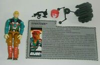 1989 GI Joe Downtown Mortar Man Army Soldier Figure w/ File Card *Not Complete