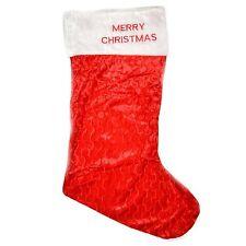2 Pack of Giant Red Velvet Christmas Stocking 88cm Long Christmas Stockings