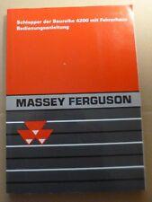Massey Ferguson Schlepper 4200er Serie (4215, 4220, 4225 ... ) Betriebsanleitung