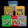 1/7PCS HOT Game Card for Nintendo PokemXn GBC Magic Wizard Pikachu Color Version