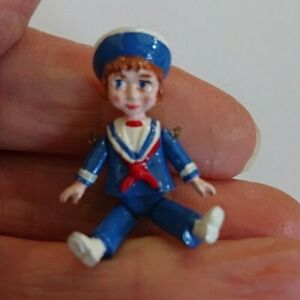 Jointed pewter miniature, sailor doll. 4 cm tall. Warwick miniature. New.