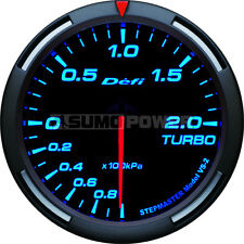 Defi Racer 52mm Car Boost 2 Bar turbo Gauge - Blue - Stepper Motor, DF06504