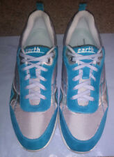 Earth Womens Sz 10 Turquoise Blue Suede Leather Shoe Casual Sneakers Traveler !!