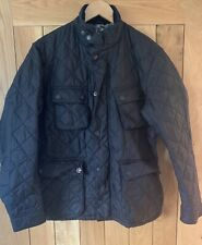 Mens Barbour International Steve McQueen Jeffries Black quilted jacket Small