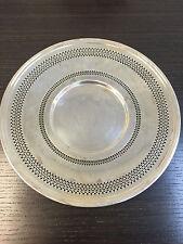 "Vintage 10"" Meriden International Silver Company Round Plate Serving Dish 722"