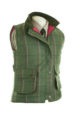 LADIES WOOL TWEED WAISTCOAT FITTED PINK CHECK NEW SIZES 8-22