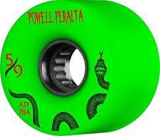 Powell Peralta ALL TERRAIN Skateboard Wheels GREEN 59mm 78a