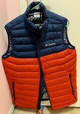 Brand New Men's Columbia Omni Vest Size Large M Blue & Red. MSRP $110