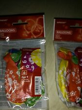 """Job lot Age 9 Latex Balloons 11"""". There 6 in a packet x17 = 102"""