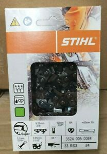 """25"""" STIHL Chainsaw Chain 33 RS3 84 3624 005 0084 33RS 84 3/8"""" pt 84 Link NEW OEM"""