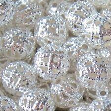 50 Piezas De 10 Mm Hierro encontrar Beads-Plata-a6768