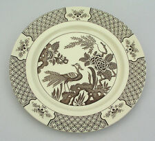 """WOOD & SONS - YUAN CHOCOLATE BROWN - 10 1/4"""" DINNER PLATE - MADE IN ENGLAND"""
