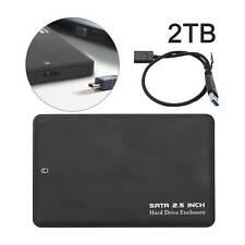 2TB USB 3.0 Storage Device Drive SATA Memory HDD Box External Hard Disk Portable