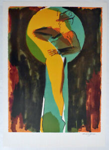 Allen JONES - HAND SIGNED - RARE artist poster 1983 - without lettering