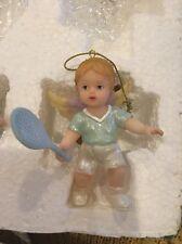 Nwt Tennis Themed Christmas Ornament By Roman, Inc Tennis Girl Angel