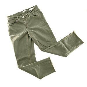 J. Jill Women's Denim Authentic Fit Cropped Release Hem Green Size: 6