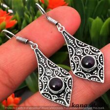 "Black Onyx 925 Sterling Silver Plated Antique Design Earring 4.3"" E-20066"