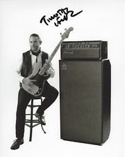BASSIST TIM LEFEBVRE of TEDESCHI TRUCKS BAND SIGNED 8X10 PHOTO COA DAVID BOWIE