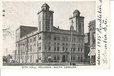 1908 The City Hall in Columbia, SC South Carolina PC