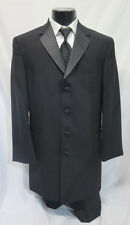 New After Six Matrix Wool Tuxedo Package Flashy Checkered Lapel Made in USA 40R