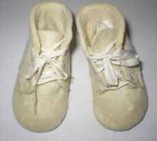 Antique ivory wool factory made baby shoes-mkd.in blue