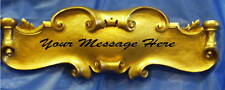 DECOR SIGN PLAQUE *BLANK* Baroque Scroll Antique Gold