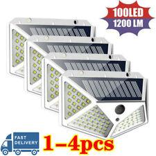 100LED Solar Power PIR Motion Sensor Wall Light Outdoor Garden Lamp Waterproof ※