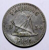 1934 Fiji One 1 Shilling - George V - Lot 706