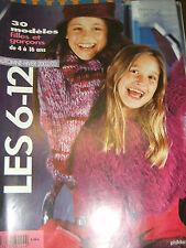 Phildar Créations N°375 Automne Hiver 2002 2003 Enfants 6 à 12 ans Modèle Tricot