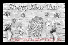 3d Model Stl For Cnc Router Artcam Aspire Happy New Year Santa Claus D755