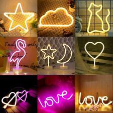Neon Sign Light LED Wall Light Visual Art Decor Bar Lamp Home Room Shop Decor UK