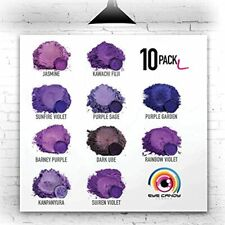 Eye Candy Mica Powder - Purple Pigment 10-Pack Set L Colorant For Epoxy Resin