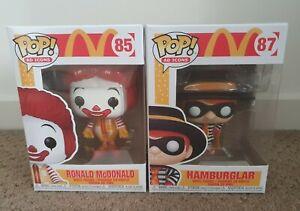 BRAND NEW  Funko Pop! Ad Icons McDonald Set Of 2 Ronald & Hamburglar.