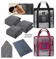 Premium Weighted Blanket Sensory Sleep Reduce Anxiety 100%Cotton 150X200/120X180