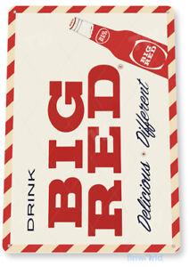 Big Red Vintage Retro Soda Tin Sign D168