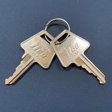 2 American Padlock Am3 Keys Cut By Code 5 Pin Key Free Ship With Tracking